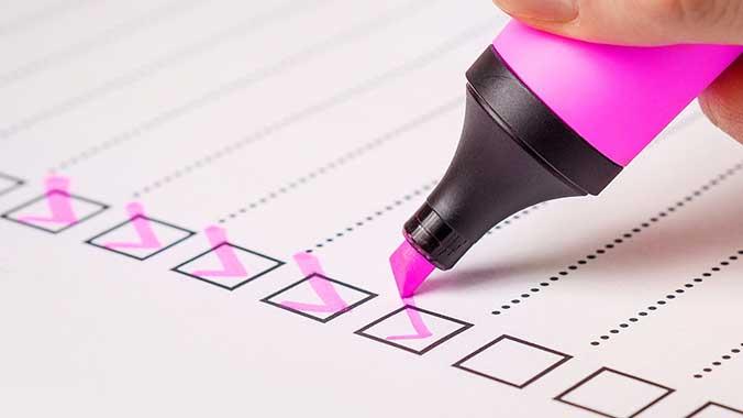 Storage Company Checklist