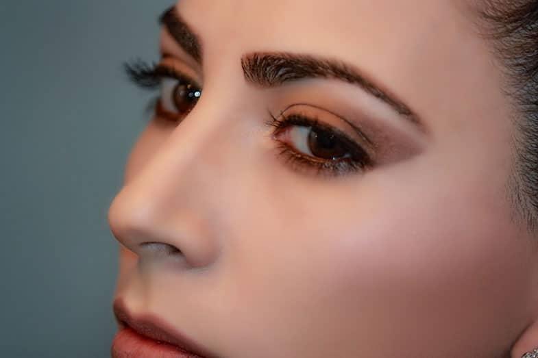 Eyebrow Makeup on Woman