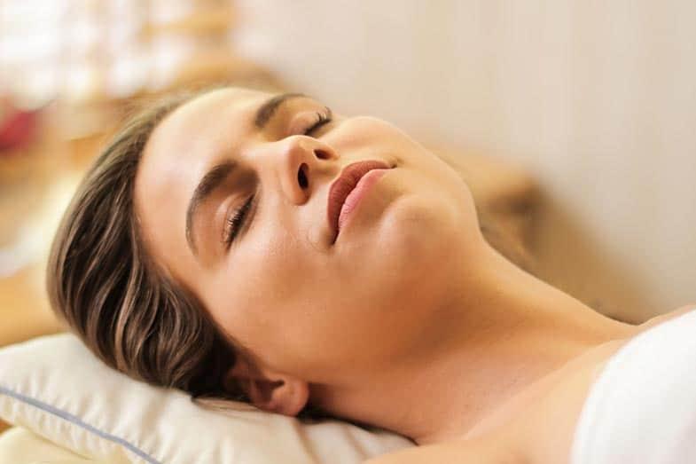 Woman Sleeping With Eyebrow Makeup On