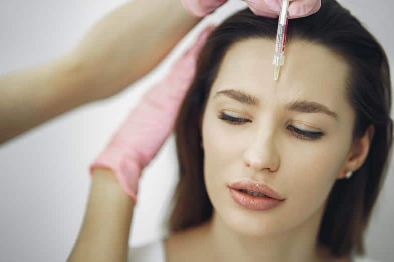 Woman Getting Face Botox