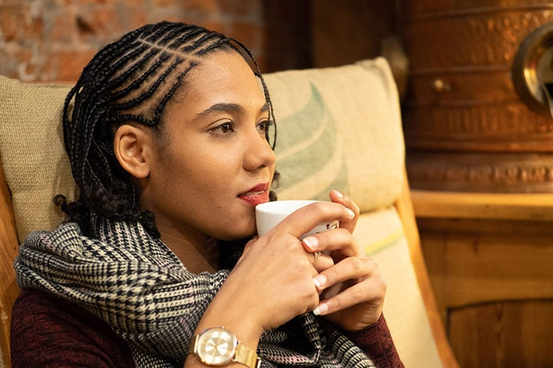 Woman with Cornrows