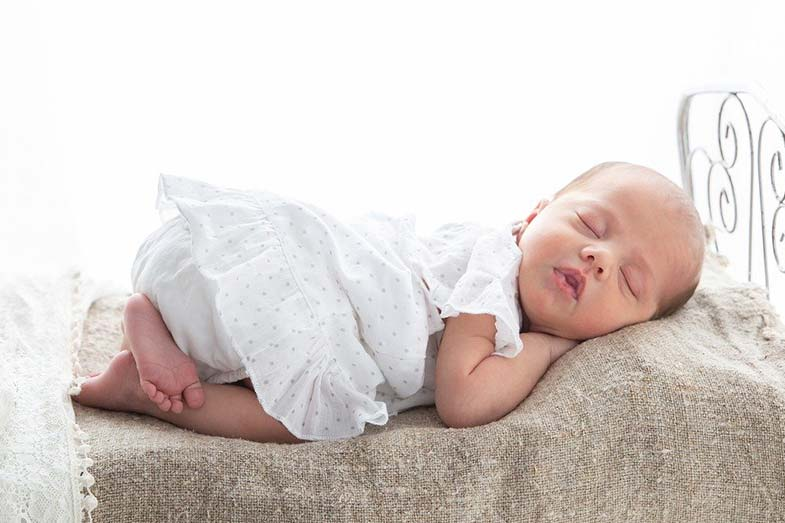 Baby Sleeping with Bum in the Air
