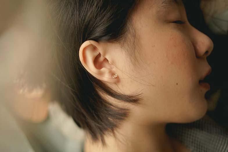 Woman with Earring Sleeping