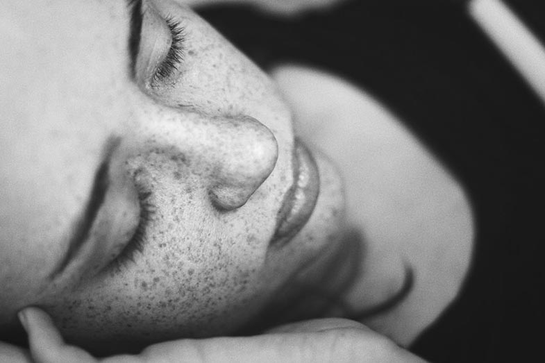 Woman with Freckles Sleeping