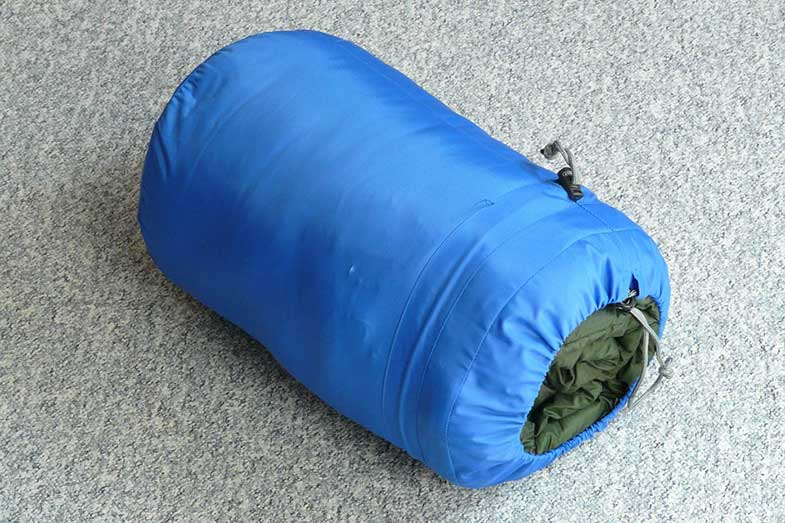 Blue Sleeping Bag Rolled-Up