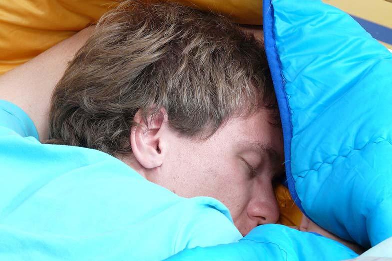 Sleeping Bag Man