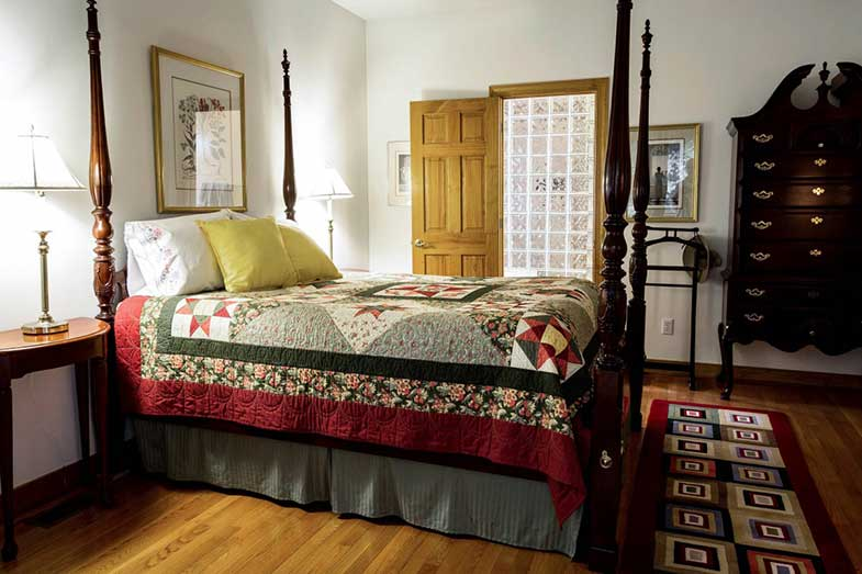 Bed With Quilt and Bed Skirt