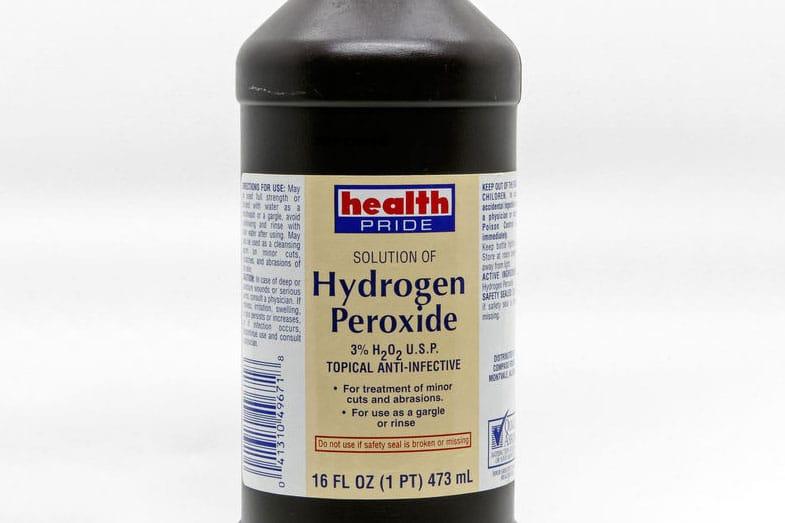 Brown Bottle of Hydrogen Peroxide
