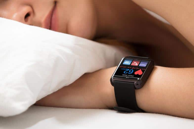 Woman Sleeping With a Smartwatch on