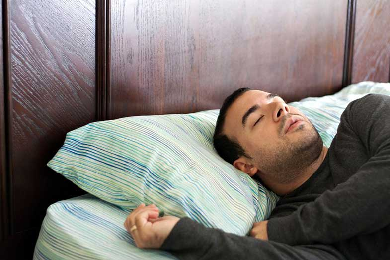 Young Man in His Late 20s Sleeping