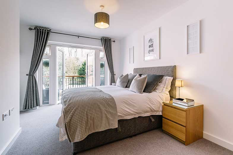 Large Bed in Bright Bedroom